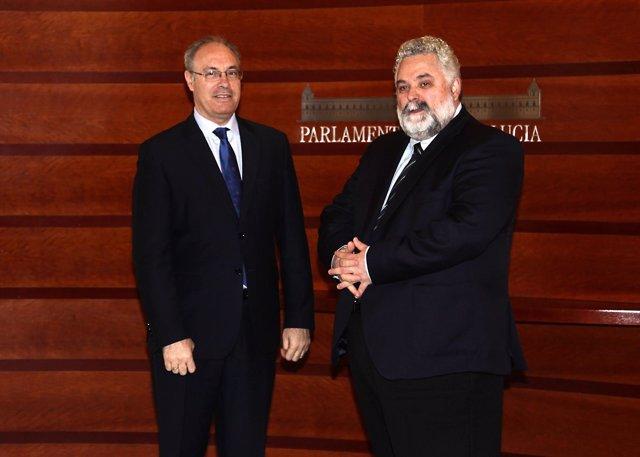 El presidente del Parlamento andaluz recibe al Fiscal Superior de Andalucía