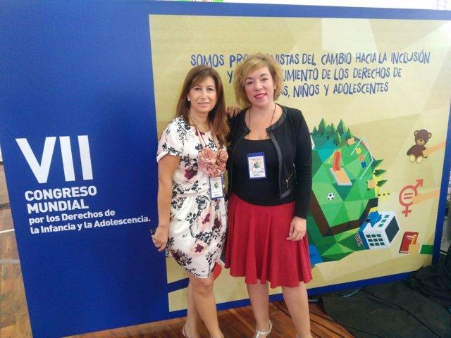 Roseta Leiva y Gemma del Corral en Paraguay