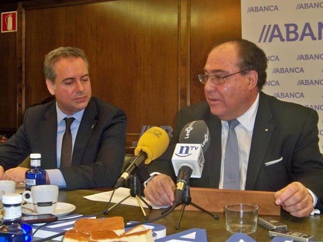 Marcos Lamas junto a Miguel Ángel Escotet