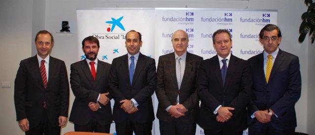 Firma acuerdo Obra Social La Caixa y HM Hospitales
