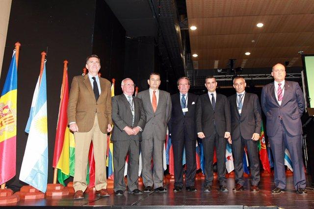 Sanz y Bernal en la inauguración del Foro Iberoamericana