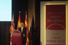 """Gay de Montellà (Fomento del Trabajo) dice que los retos de España son """"recuperar Catalunya"""" y el déficit"""