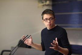 """Errejón pide un Podemos """"independiente"""" tras el registro de Unidos Podemos como partido"""