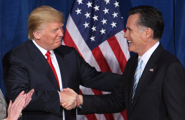 Trump y Romney
