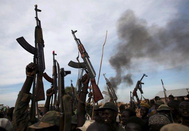 Fuerzas rebeldes leales a Riek Machar en Sudán del Sur