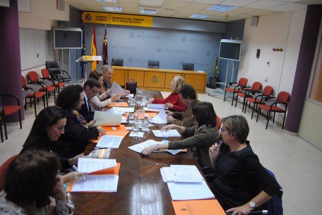 Imagen de la reunión de lLa Comisión Mixta