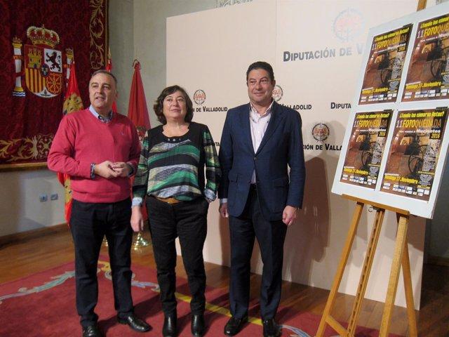 Luis Chico (izda), Emiliana Centeno y Alberto Collantes.