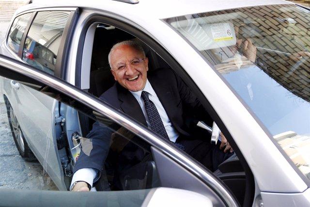 El presidente de la región de Campania, Vincenzo de Luca