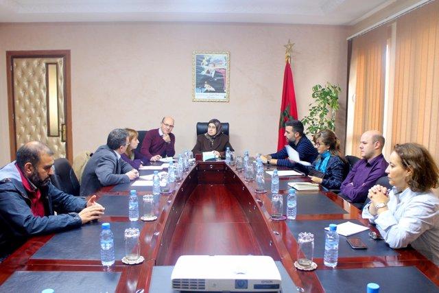 Los representantes del Ayuntamiento de Rubí y la comuna marroquí de Tetuan