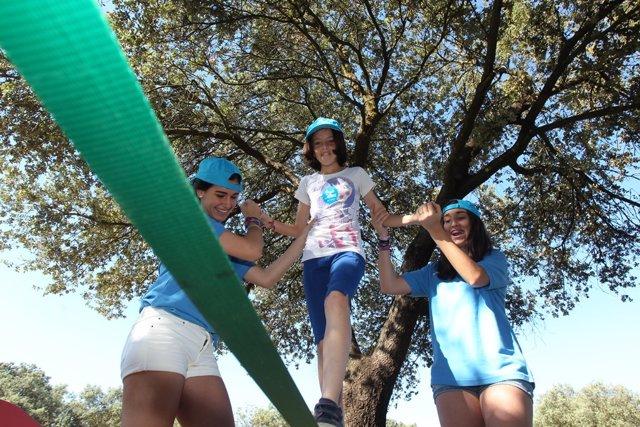 Una imagen de los Voluntarios de la Caixa