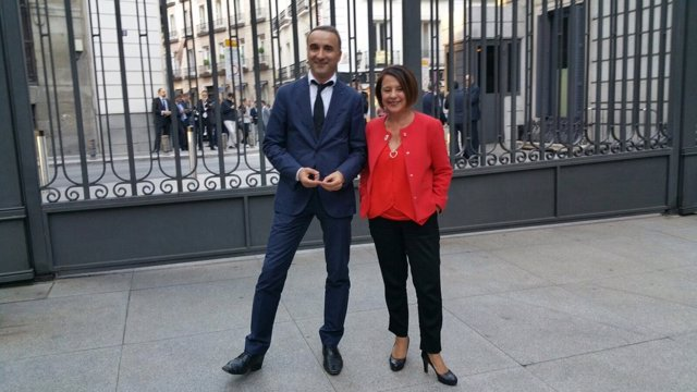 Los diputados socialistas por Baleares, Pere Joan Pons y Sofía Hernanz