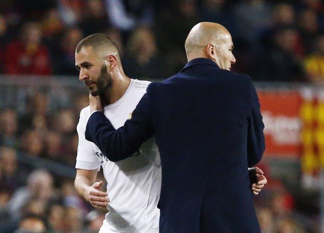 Zinédine Zidane Karim Benzema Real Madrid