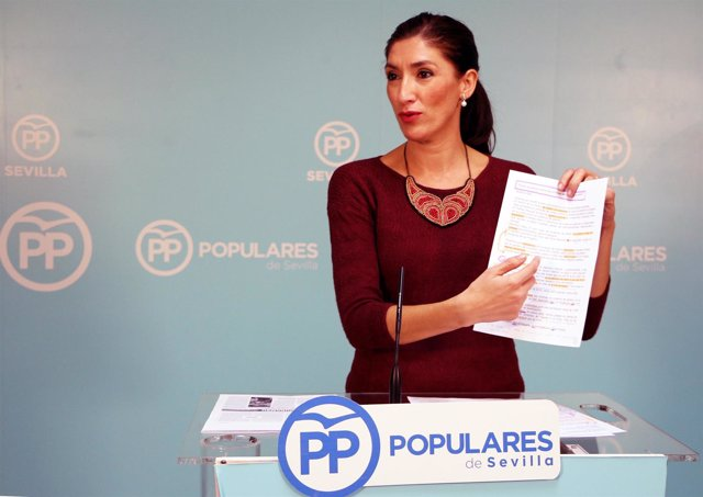 Silvia Heredia portavoz del PP Sevilla