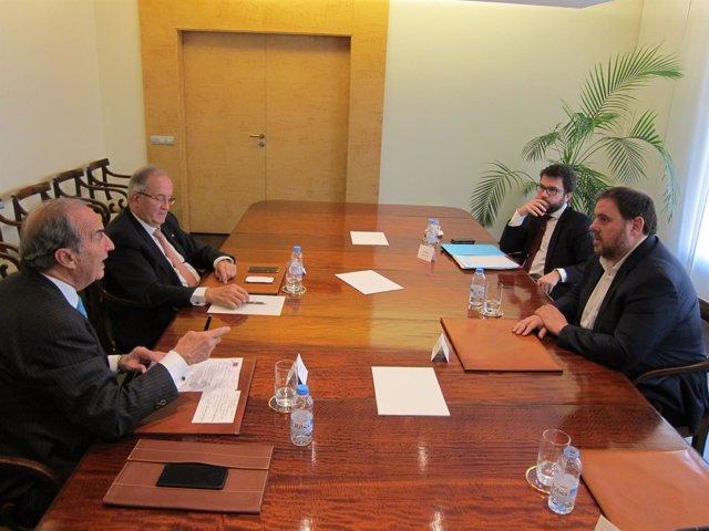 Joaquim Gay de Montellà, Josep González, Pere Aragonès, Oriol Junqueras