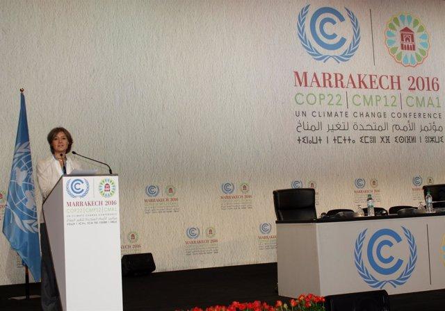 Isabel García Tejerina interviene en la Cumbre del Clima de Marrakech (COP22)