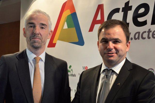 Fernando Chocarro , director de ActelGrup y Josep Maria Codina, presidente