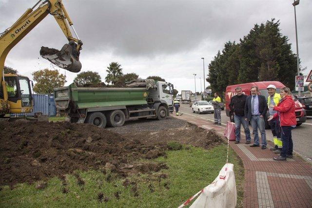 Comienzan las obras de la rotonda entre Alday y Cros