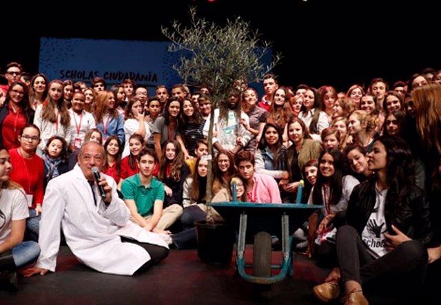 Alumnos participantes en Scholas Ciudadanía Madrid