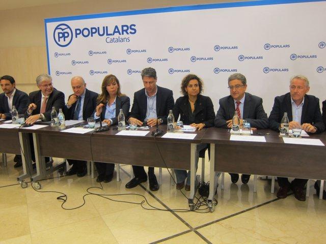 Reunión de la Junta Directiva del PP catalán