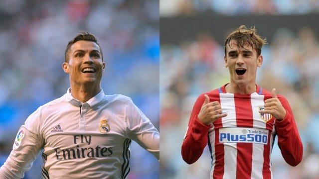 Cristiano Ronaldo y Antoine Griezmann, previa del derbi