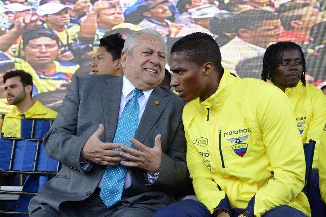 Expresidente de la Federación Ecuatoriana de Fútbol Luis Chiriboga