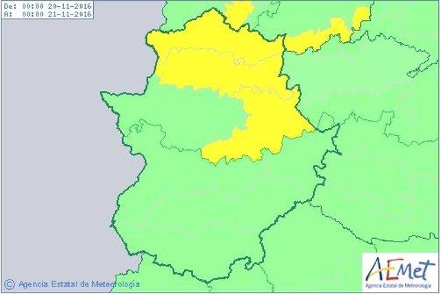Avisos por lluvias en Cáceres