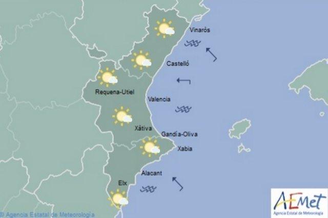 Predicción del tiempo en la Comunitat Valenciana para este sábado