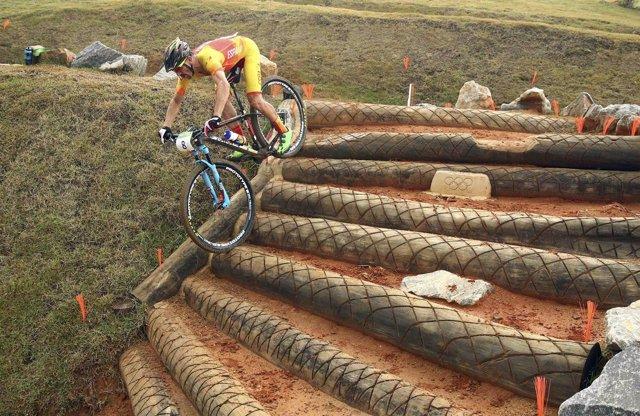 Carlos Coloma en la prueba de mountain bike en los Juegos de Río