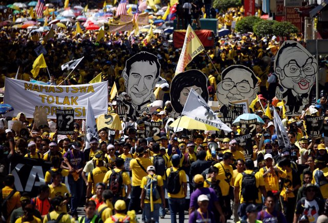 Protestas contra el primer ministro de Malasia, Nayib Razak