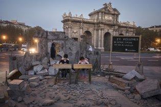 escuela siria destruida puerta de alcalá