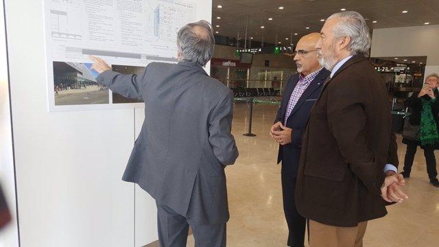 Julio Gómez-Pomar asiste a la inauguración de la nueva sala de embarque de Sants