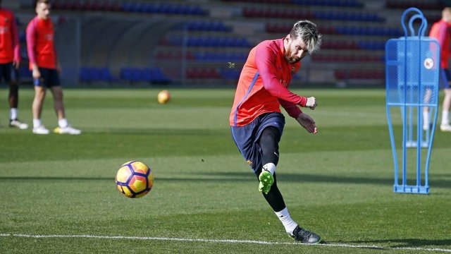 Leo Messi entrenamiento Barcelona