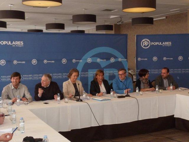 Rudi preside la reunión del PP en Jiloca y Cuencas Mineras.