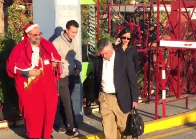 Juan Antonio Roca sale de la carcel en su primer permiso penitenciario