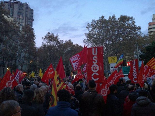 Manifestación en Barcelona por unos Presupuestos sociales