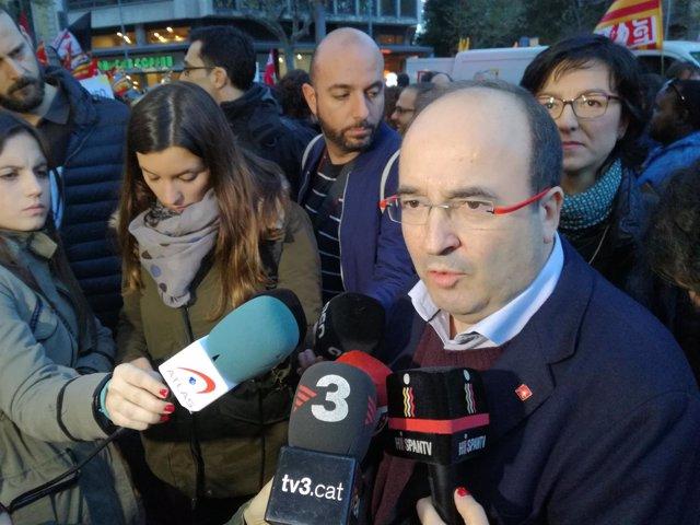 El secretario general del PSC, Miquel Iceta,