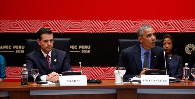 Peña Nieto y Obama en Lima
