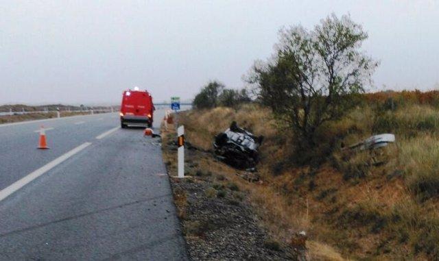 Accidente de tráfico en Murchante