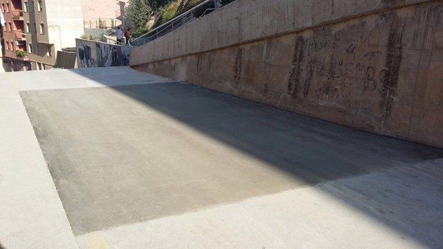 Mejoras realizadas en la calle Arribas de Fraga (Huesca)