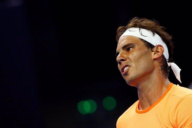 El tenista español Rafael Nadal en el Abierto de China