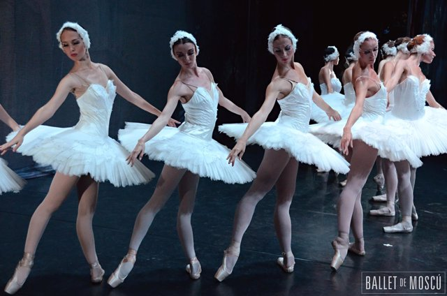 El Lago de los cisnes, del Ballet de Moscú.