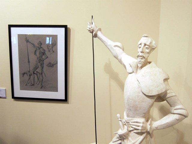 Obra expuesta en la exposición 'Salamanca en la obra de Cervantes'