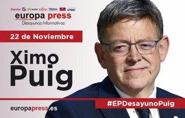 Ximo Puig participa este martes 22 de noviembre en el Desayuno Informativo de Europa Press