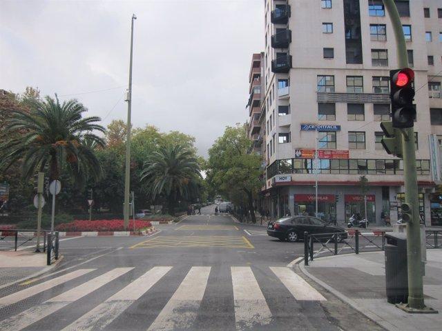 Un paso de peatones en Cáceres