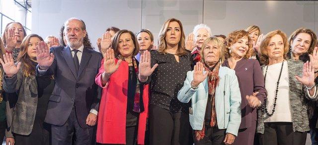 Susana Díaz preside la presentación de la campaña #YOHAGOFRENTE