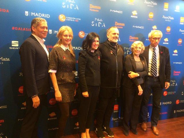 Manuela Carmena en la presentación de la 7º edición de la Gala Sida.