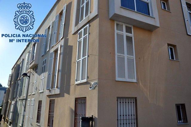 Imagen de una de las viviendas asaltadas