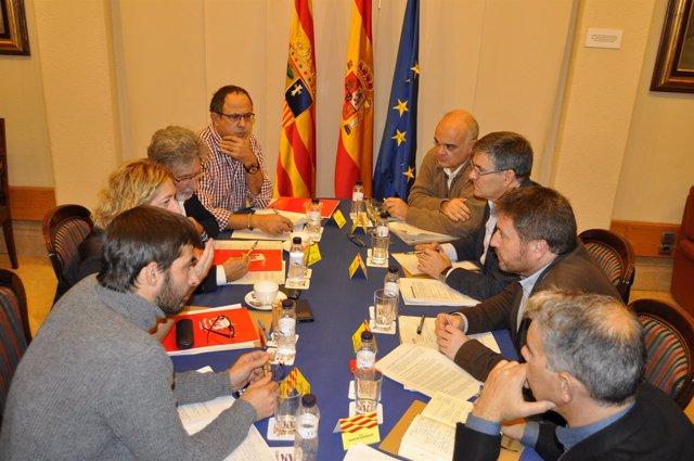 Gobierno de Aragón e IU han analizado el cumplimiento de sus compromisos.