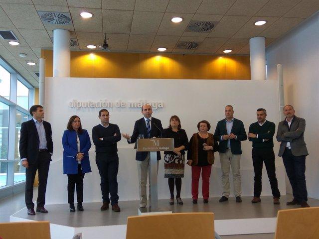 Conejo con portavoces PSOE diputaciones andaluzas