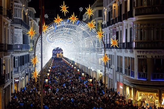 Navidad 2015 iluminación navideña calle Larios